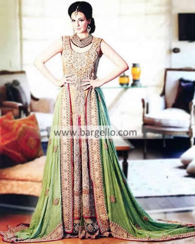 Designer Saiqa Majeed Latest Bridal Shararahs Ghararas 2013 Schaumburg Illinois
