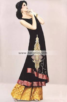 Black Evening Party Wear Outfit By Mehdi 2013 Edinburgh UK, Mehdi Outfits for Special Occasions UK