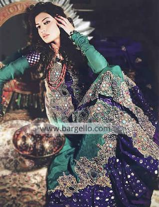 Embroidered Party Wear Suits 2012 by Zahra Ahmed Dundee UK, Designer Evening Suits by Zahra Ahmed UK
