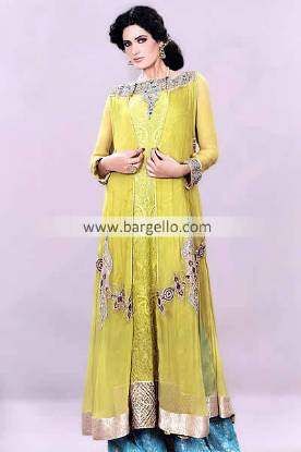 Evening Formal Wear Collection 2013 by Designer Mehdi Coventry UK, Chiffon Party Outfits 2013 Mehdi