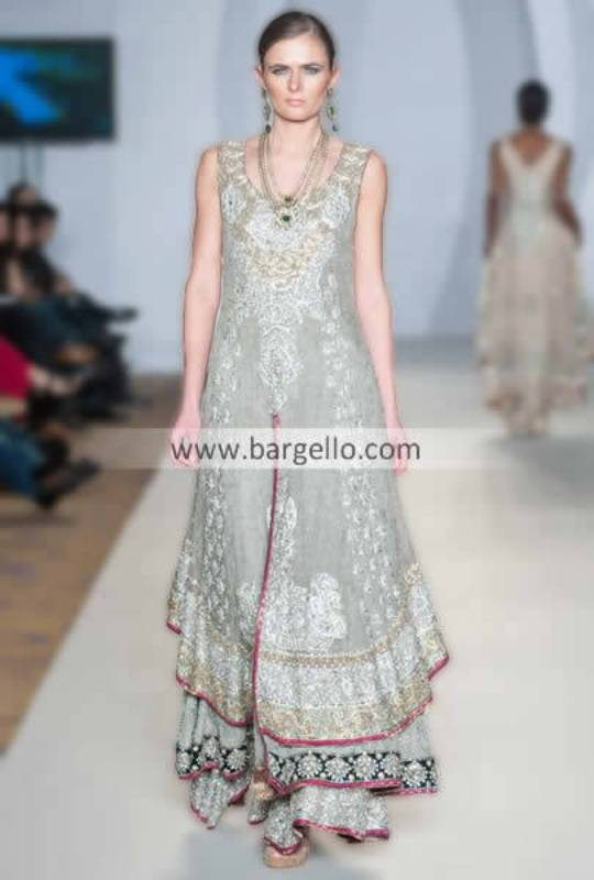 Designer Shazia Kayani Asian Party Outfits For Special Occasions Barat Mehendi & Walima London UK