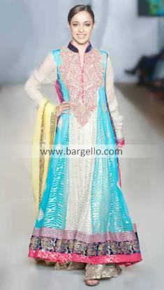 Designer Rizwan Ahmed Party and Evening Wear Anarkali Churidar Suits 2013 New York City NY
