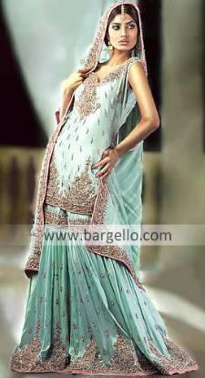 Shop the latest Fashions in Pakistani and Indian Bridal Lehenga, Sharara & Gharara