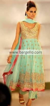Anarkali Frock Style Dress - Designer Pishwas Dress With Trousers