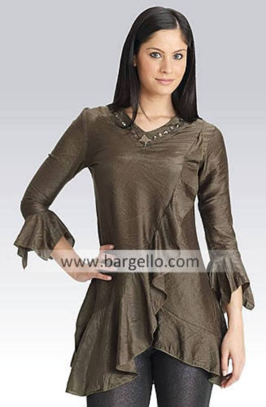 Casual Party Kurti Tunic Top Summer Top Hand Embellished