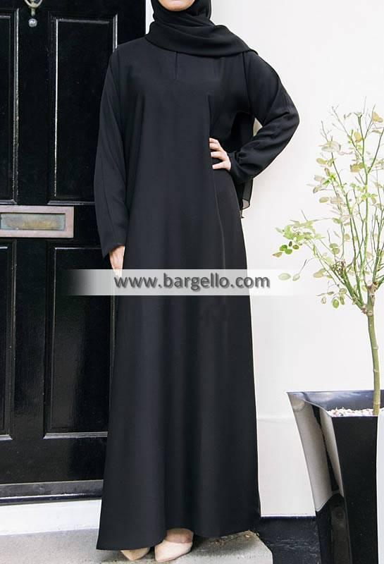 Casual Abaya Black Cheltenham London UK Pakistani Women Jilbab