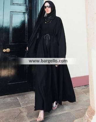 Black Flared Abaya Luasanne Switzerland Beautiful Jilbab
