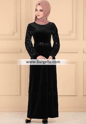 Black Snapdragon Westford Massachusetts USA Embroidered Jilbab
