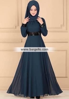 Prussian blue Tansy Montgomery Village Maryland USA Stylish Embroidered Jilbab