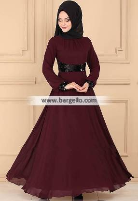 Dark Scarlet Rosemary lincolnwood Illinois IL USA Dazzling Jilbab Outfit