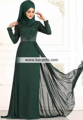Dark Green Lilium Tampa Florida USA Classic Embroidered Jilbab