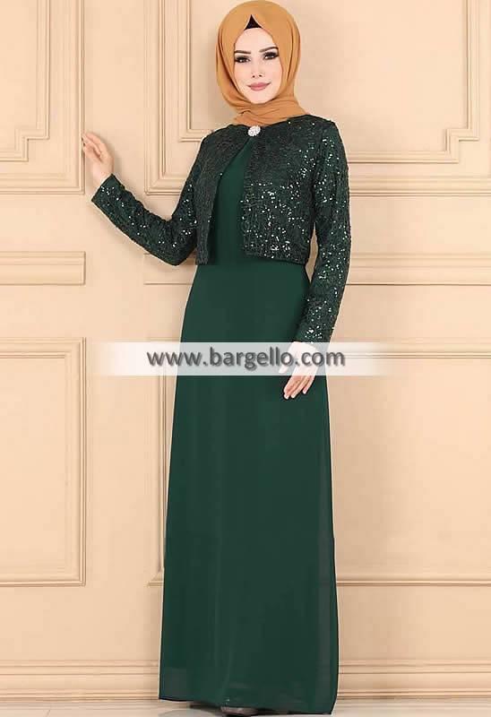 Deep Jungle Green Anemone Dammam Saudi Arabia Designer Jilbab