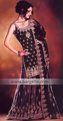 Latest Fashion of Black Dress Lehenga, Gharara, Sharara UK, USA, Australia
