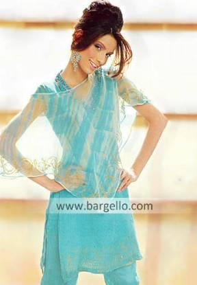 Blue Topaz Crinkle Chiffon Casual Dress Casual Fashion in Pakistan