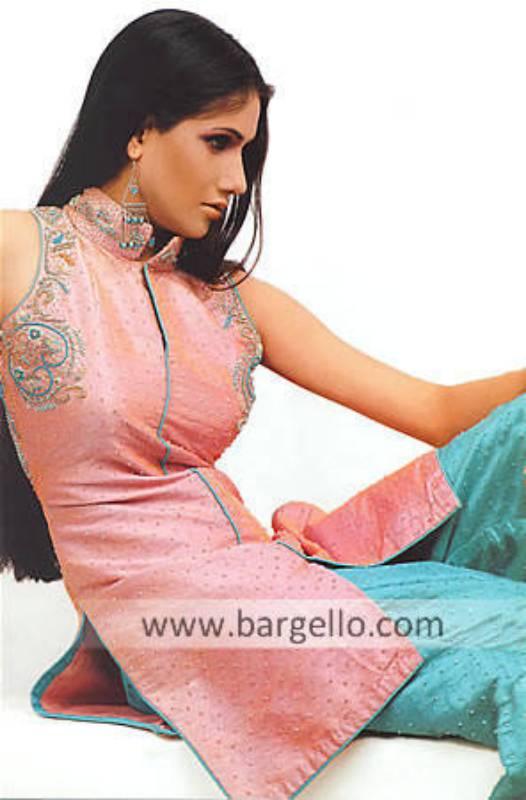 Shrimp Party Dress Rawsilk Party Dress Shalwar Kameez Salwar Kameez Online Sale Pakistan