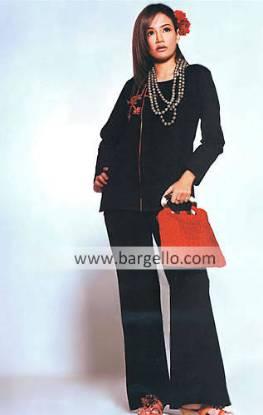 Pakistani Casual Shalwar Kameez Dresses with Handmade Embroidery