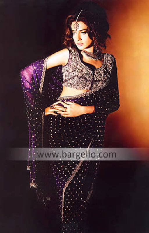 Purple Ritzy Sari Designers in Pakistan Sari Designers Sari