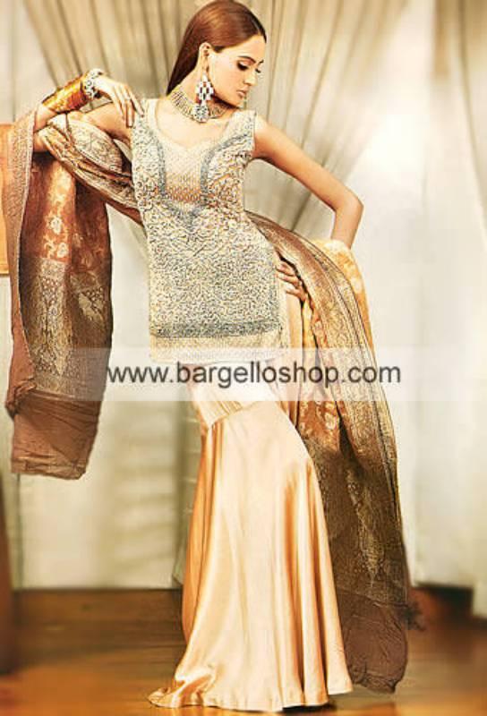 Dorato Heavily Embellished Bridal Gharara, Shirt and Dupatta