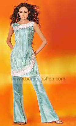Silk Trouser Suit, Pakistani Designer Dresses