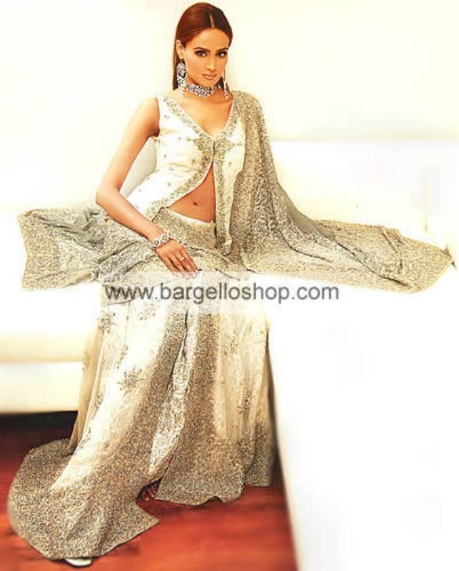 Ivory Rangee Bridal Hand Embellished Dress