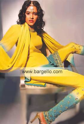 Sun Gold Dual Shaded Pakistani Dresses made in Pakistan Party Dresses Online