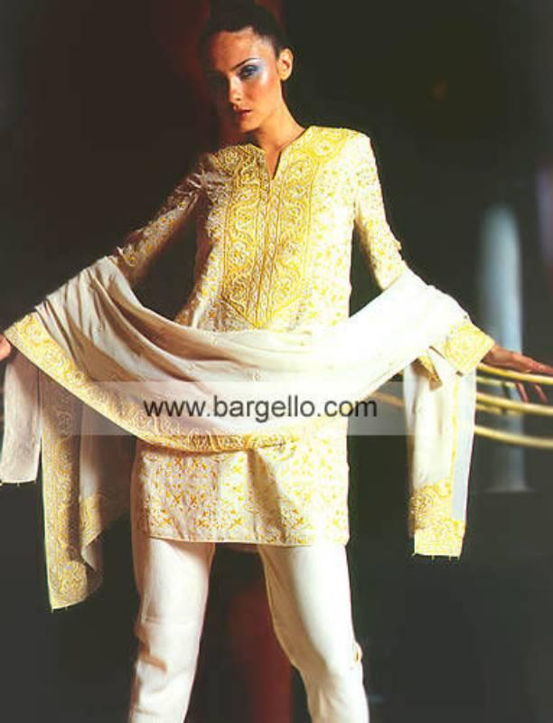 Ivory Cinnabar Hand Made Thread, Sequins and Beaded Dress
