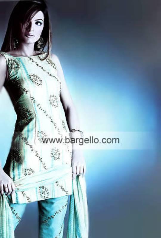 Turquoise Deluxue Crinkle Chiffon Tie n Dye Effects Dress