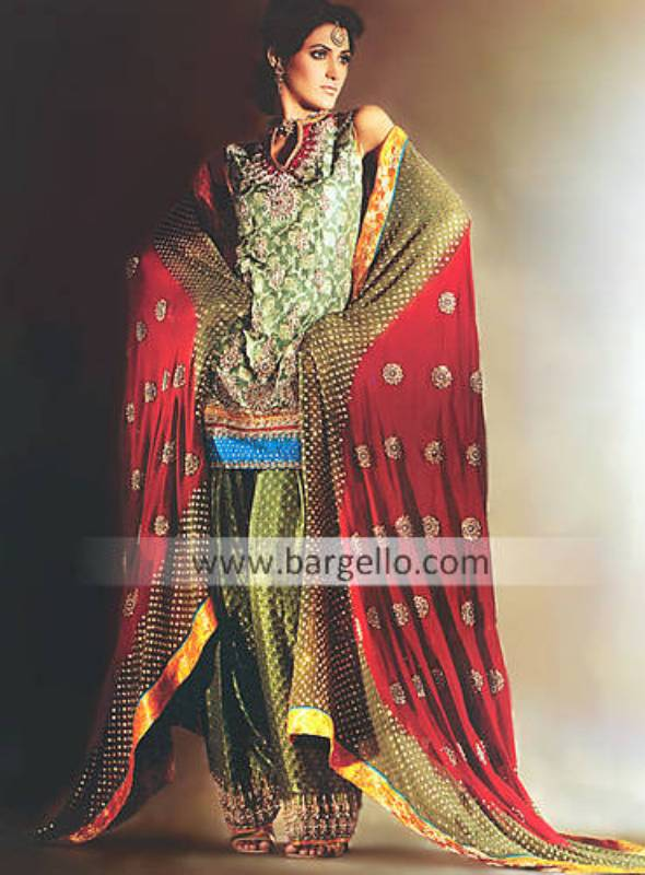 Bridal Shalwar Kameez, Pakistani Formal Dress London UK