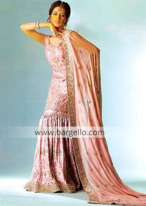 Designer Gharara, Indian Pakistani Bridal Dress Classic Bridal Gharara