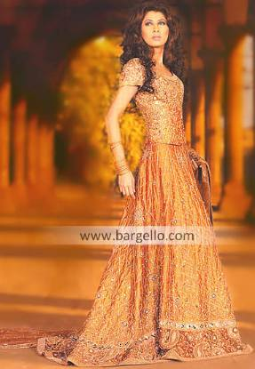 Orange Micheliana Pakistani Designer Bridal Dress