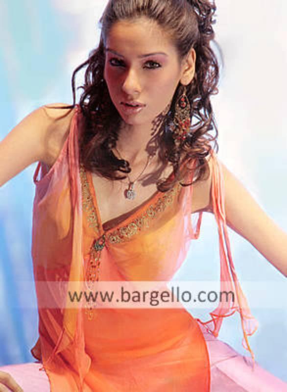 Two-toned Tie n Dye Hand Embellished Dress