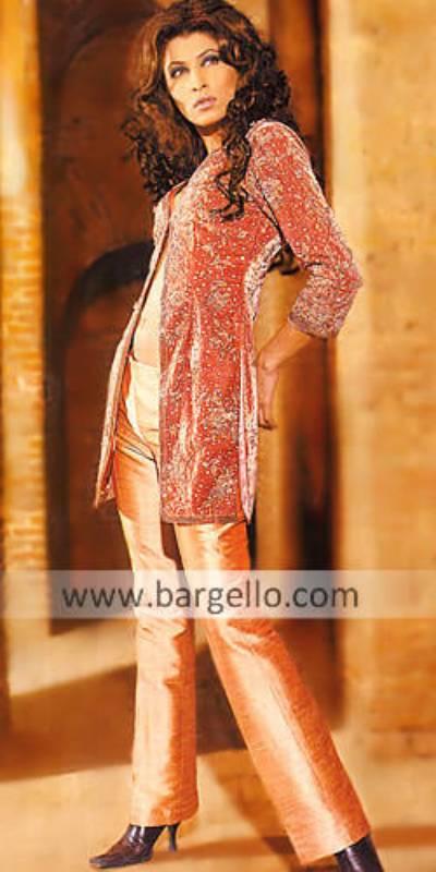 Maroon Chenille three quarter 3/4 hand embellished dress