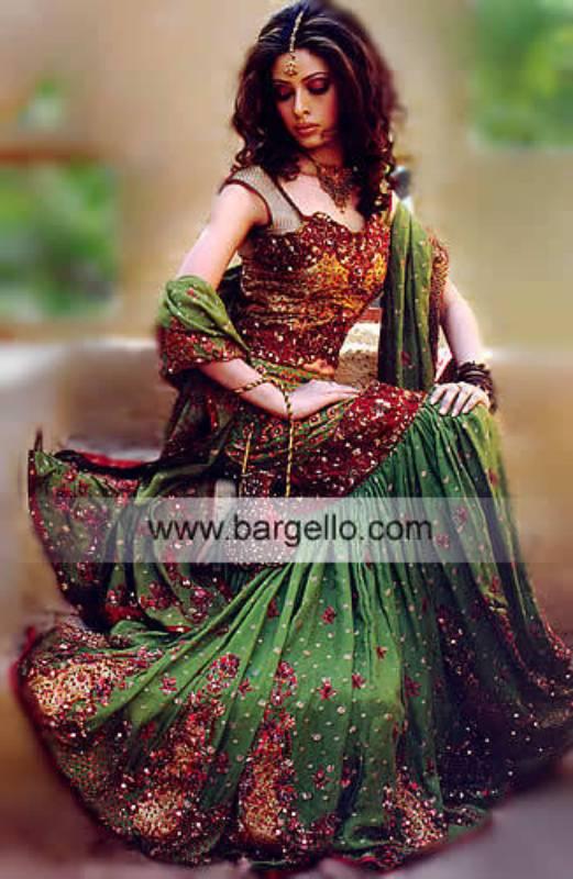 Heavily Embellished Lehenga Skirt, Lehenga UK