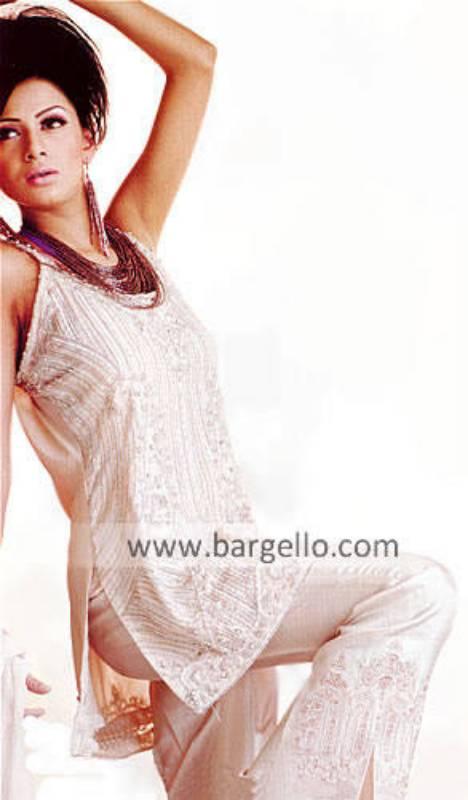 Spaghetti Strap Party Wear, Pakistani Designer Dress