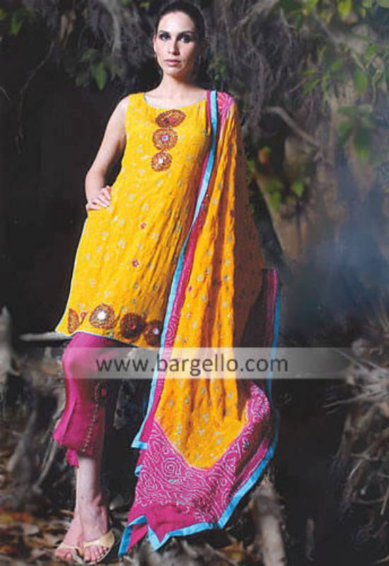 Chunri Dupatta Salwar Suit, Pakistani Designer Dresses