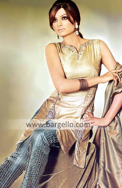 Jamawar Dress, Evening Shalwar Kameez, Embroidered Suit