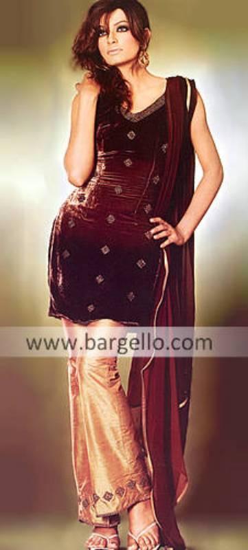 Pakistani Party Wear, Designer Trouser Dress