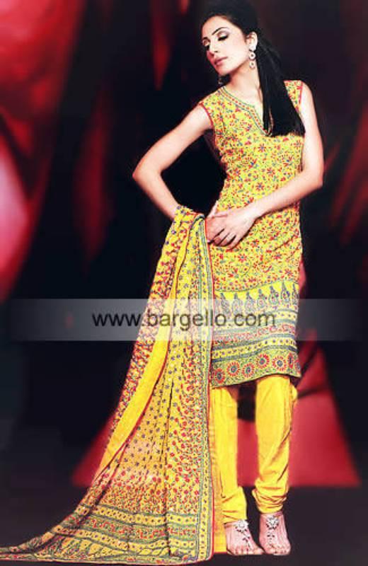 Yellow Mehandi Mahandi Mehdi Shalwar Kameez Salwar Suit
