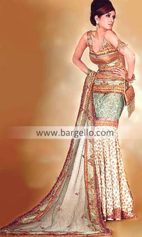 Designer Mermaid Indian Pakistani Wedding Dress