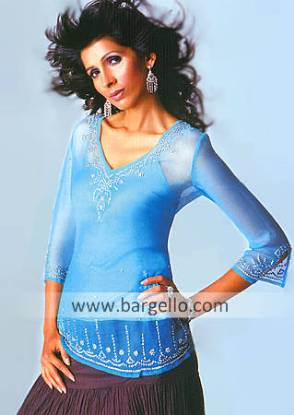 Pakistani Designer Kurti, Embroidered Kurti Top