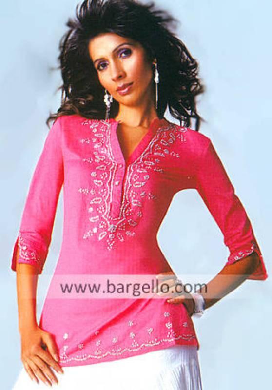 Designer Embroidered Kaftan, Pakistani Tunic Kurti Top