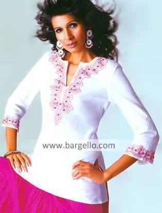 Indian Designer Kurti, Casual Kurti, Embroidered