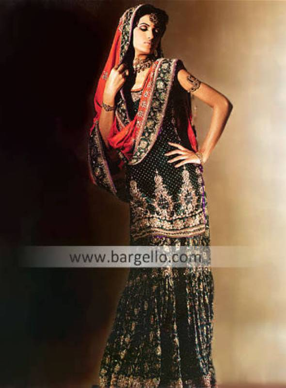 - Pakistani Designer Gharara, Wedding Dress