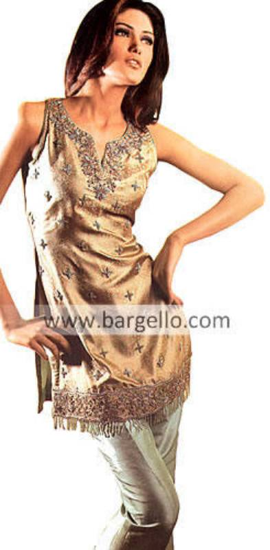 Golden Party Wear, High Fashion Dinner Party Dress