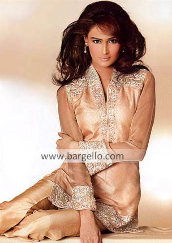 Pure Chiffon Hand Embroidered Party Wear Suit