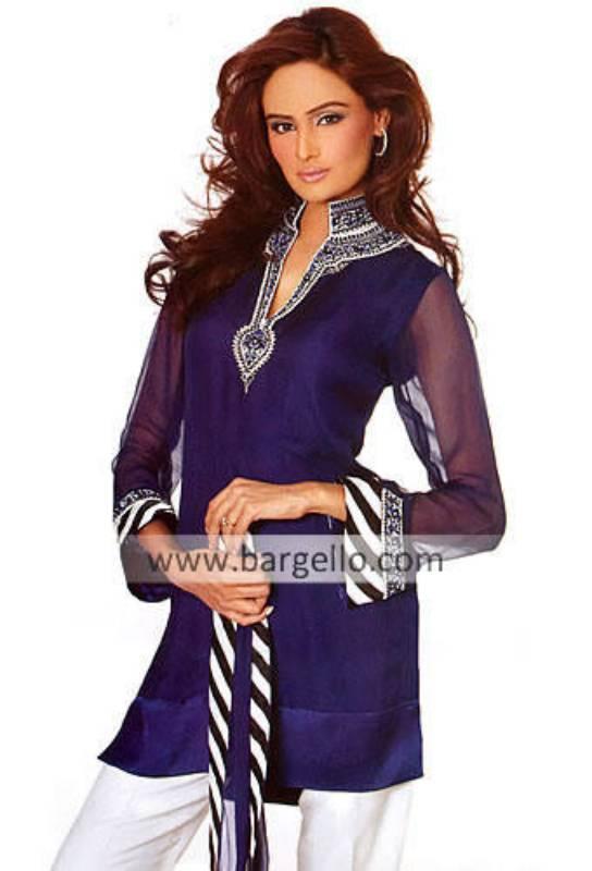 Pakistani Embroidered Kurti / Kaftan, Designer Party Wear