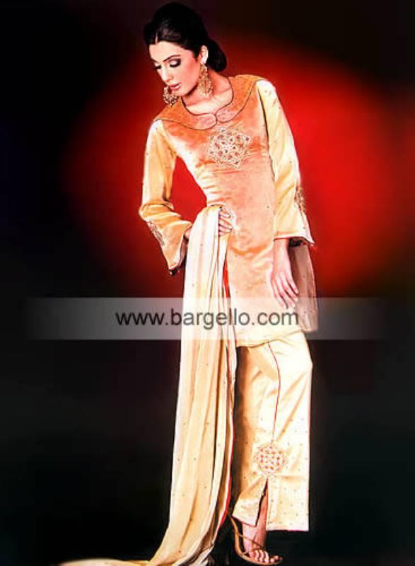 Cream Charmeuse Silk and Organza Dress with Veil