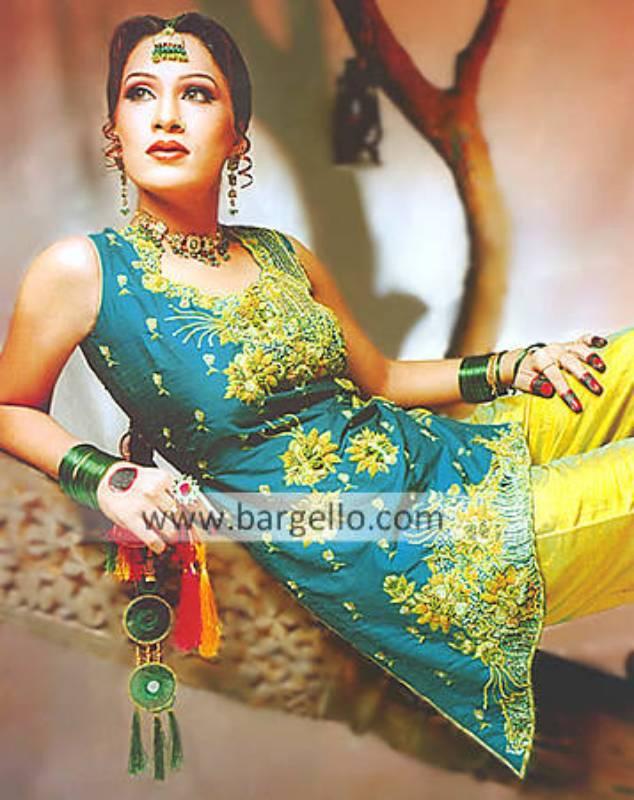 Designer Shalwar Kameez for Mehandi, Mehndi Event