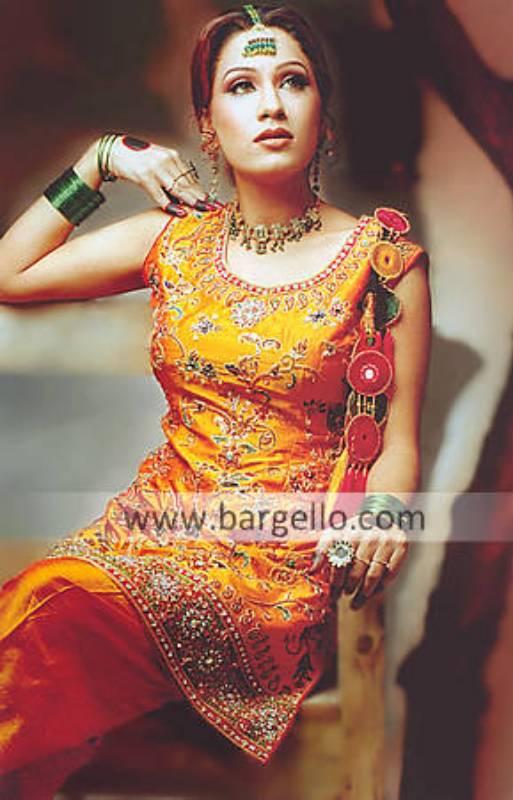Shalwar Kameez for Mehandi, Mehndi Event, Designer Dress