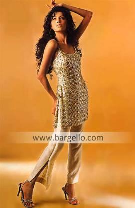 Spaghetti Straps Top, Pakistani Designer Dress